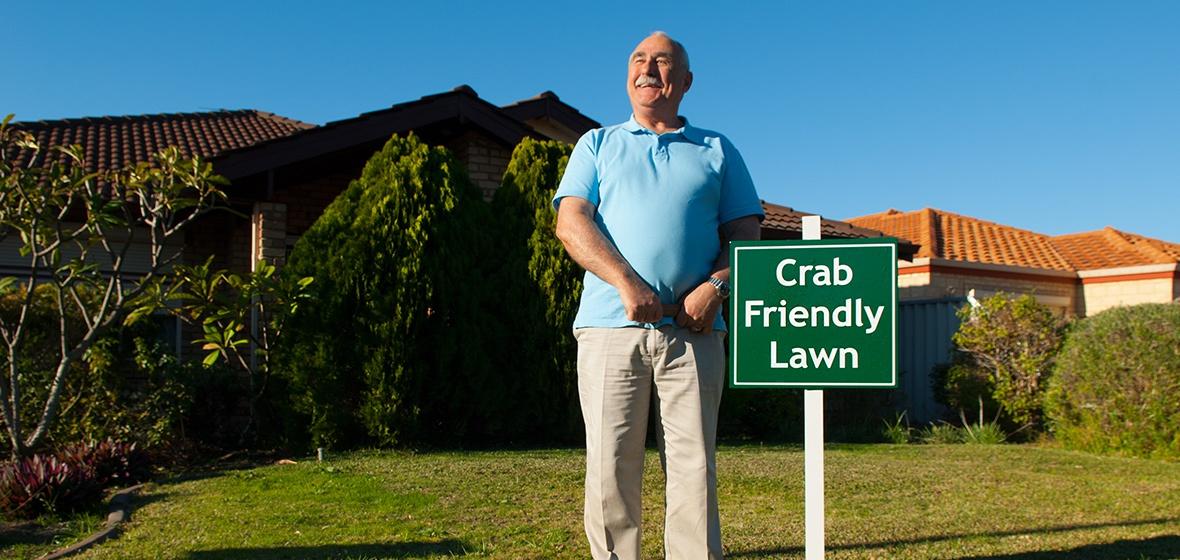 Crab Friendly Lawn