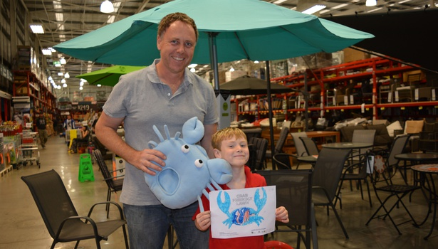 Crab colouring-in Bunnings Bunbury