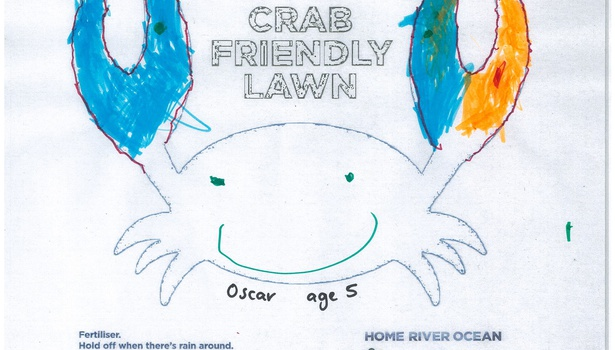 Crab colouring-in